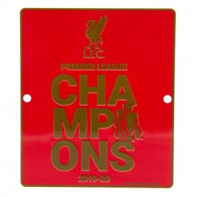 Ливерпуль Металлическая табличка оконная Чемпионы Англии 2019-20