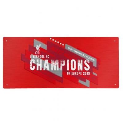 Ливерпуль Уличная табличка Победители Лиги Чемпионов