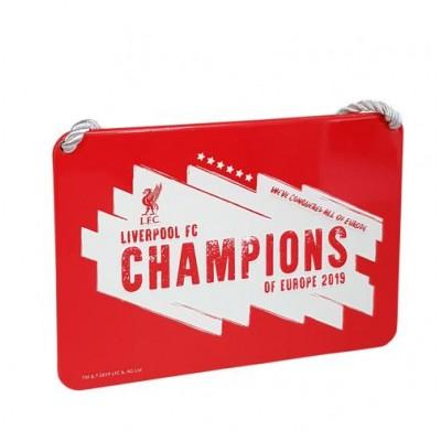 Ливерпуль Табличка в спальню Победители Лиги Чемпионов