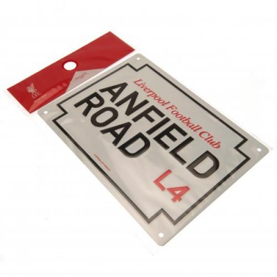 Ливерпуль Металлическая табличка Anfield Road