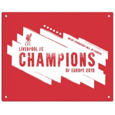 Ливерпуль Металлическая табличка Победители Лиги Чемпионов