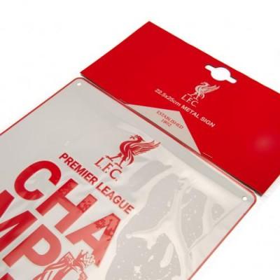 Ливерпуль Металлическая табличка Чемпионы Англии 2019-20 WT