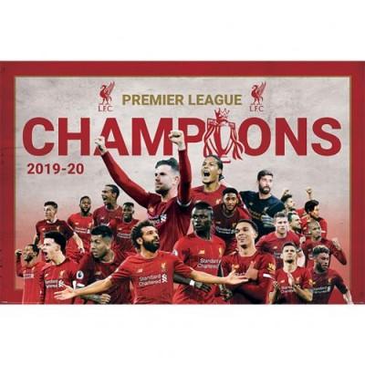 Ливерпуль Плакат Чемпионы Англии 2019-20 11