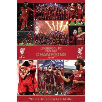 Ливерпуль Плакат Чемпионы Англии 2019-20 12