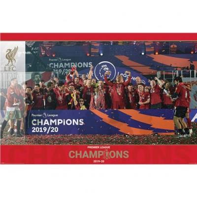 Ливерпуль Плакат Чемпионы Англии 2019-20 15