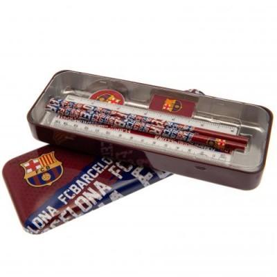 Барселона Канцелярский набор в металлическом пенале